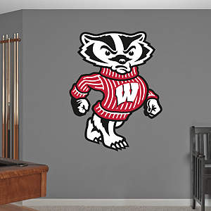 Wisconsin Badgers Mascot - Bucky Badger Fathead Wall Decal